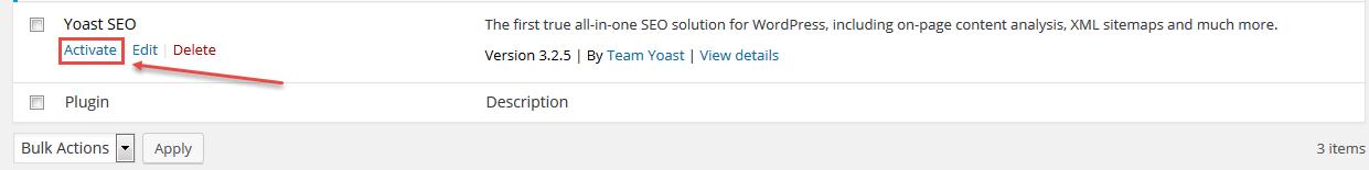 Langkah ke 4 wordpress seo activate