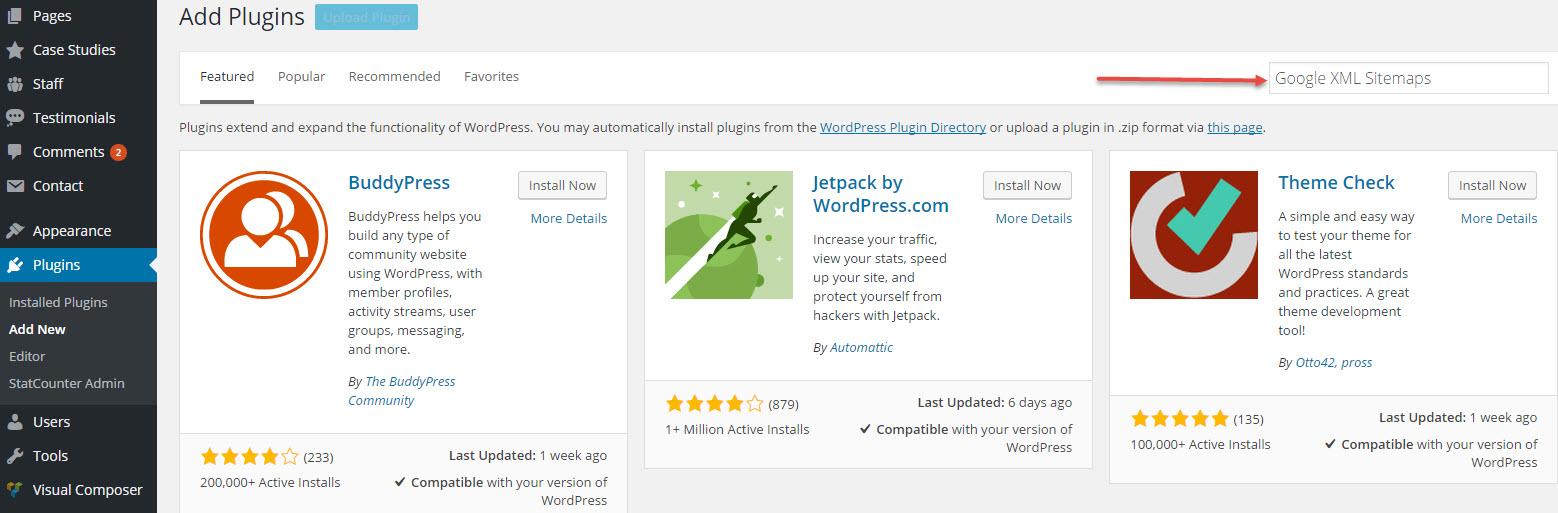 google xml sitemaps Search Plugins