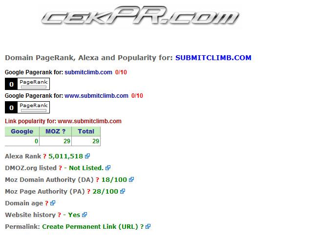 mengecek Page Rank dengan cekpr