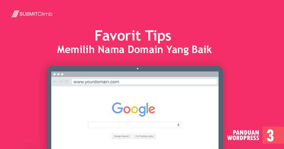 Favorit Tips Memilih Nama Domain Yang Baik