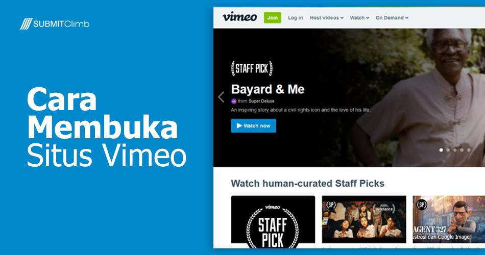 Cara Membuka Situs Vimeo