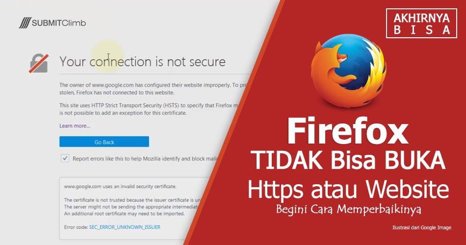 Cara Mengatasi Firefox Tidak Bisa Buka HTTPS
