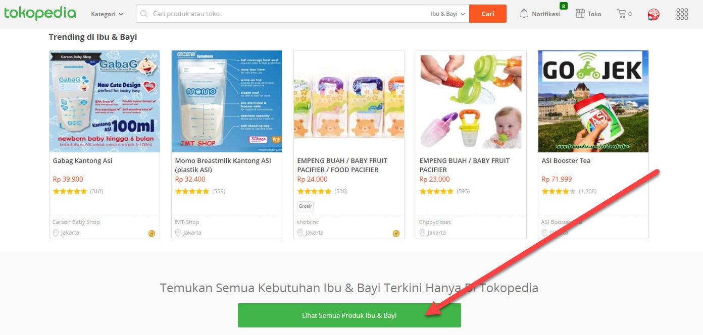 riset produk tokopedia 3- Lihat Semua Produk Ibu & Bayi