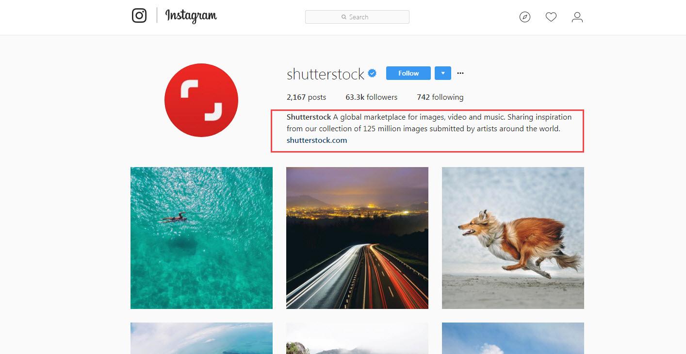 shutterstock instagram image