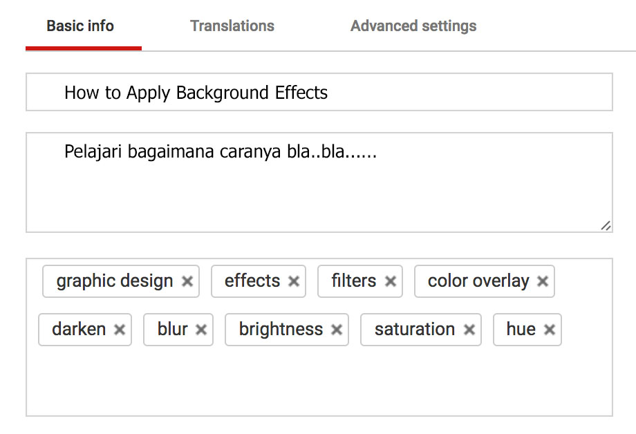 pembuatan tag youtube