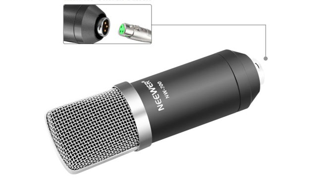 ujung jack mikrofon profesional
