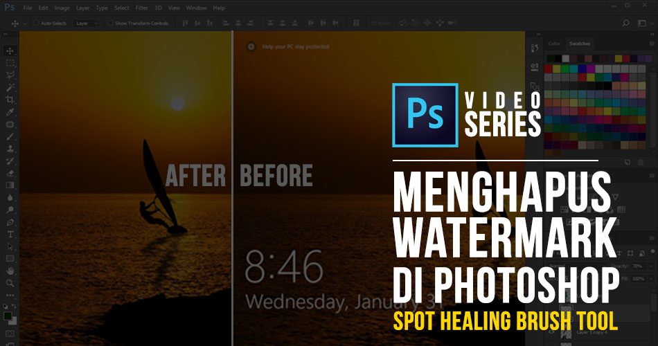 Cara Menghapus Watermark Di Photoshop