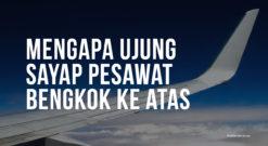Mengapa Ujung Sayap Pesawat Bengkok Ke Atas Seperti Burung Elang