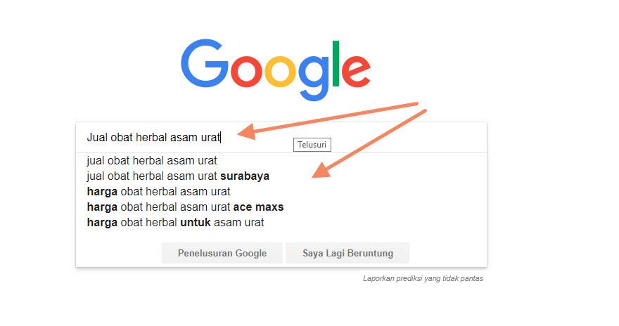 Mencari Kata Kunci di Google Search