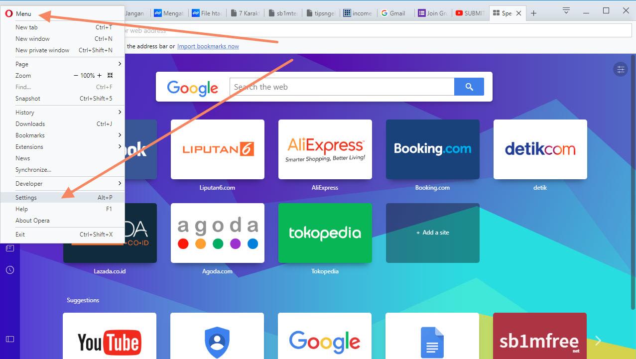 Langkah Pertama Opera VPN