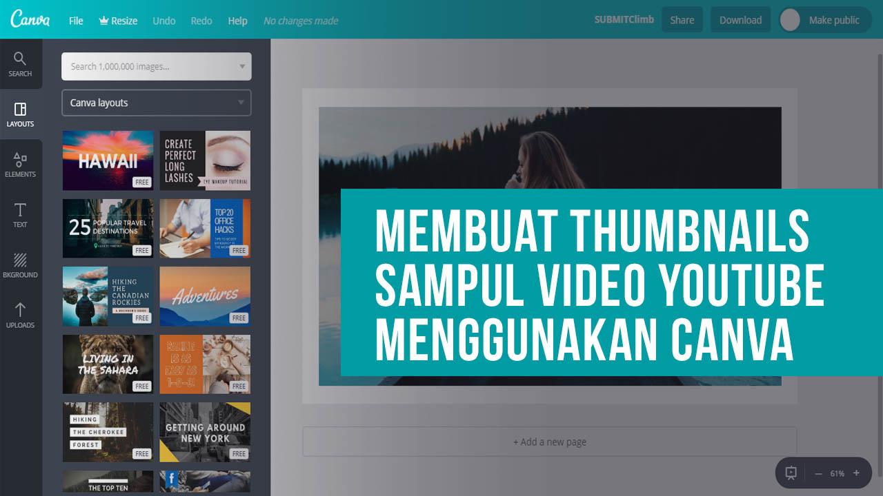 Cara Membuat Thumbnails Sampul Video Youtube Menggunakan Canva