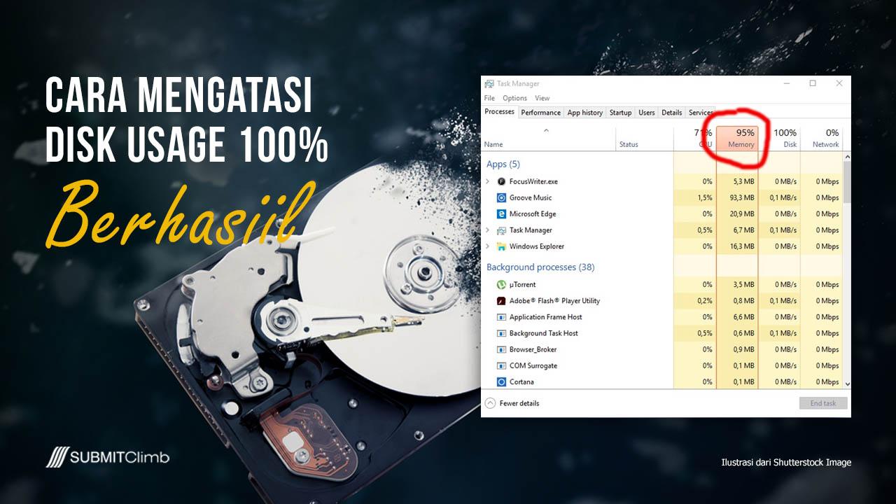 Cara Mengatasi Disk Usage 100% Dengan Disable Service Msc