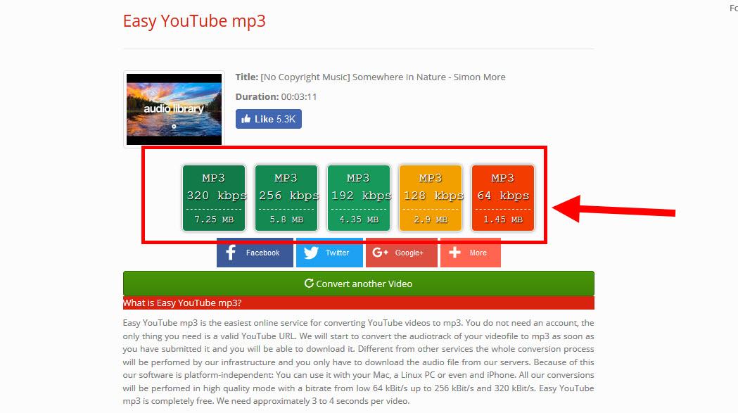 Pilih file mp3 yang mau di download dengan easy tube