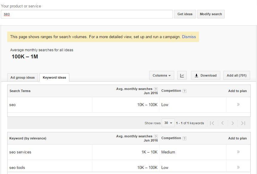 google keyword planner angka baru