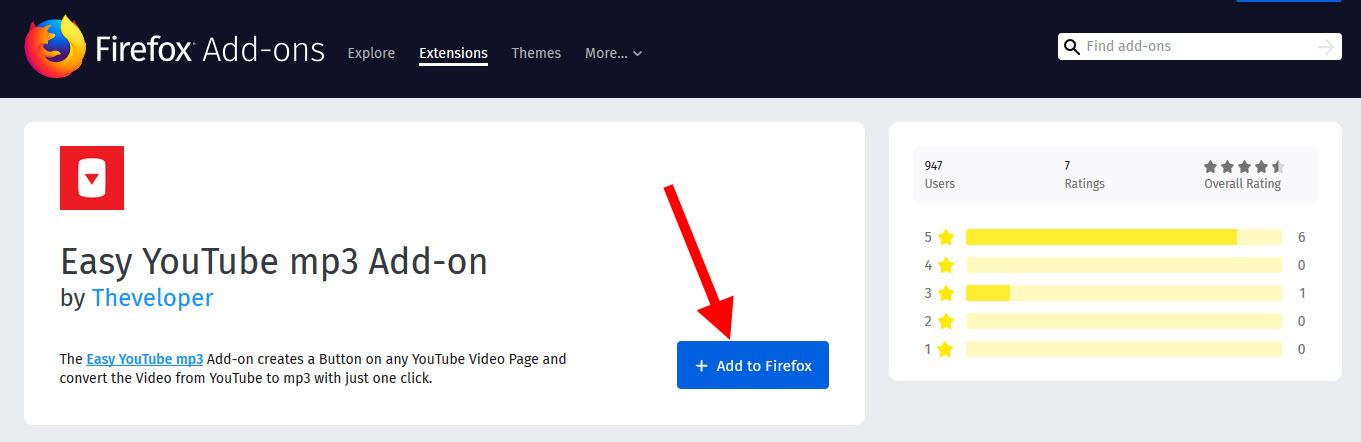 klik add Easy YouTube mp3