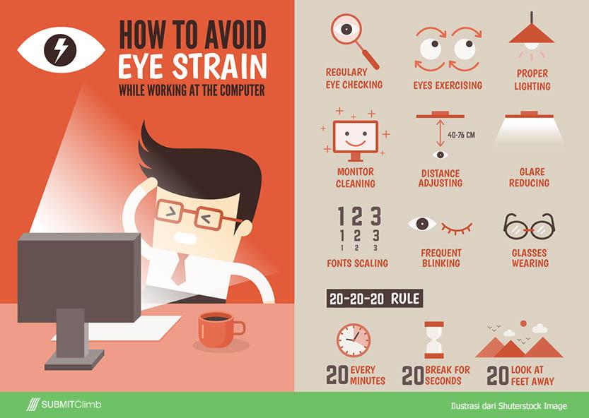 mengatasi mata lelah
