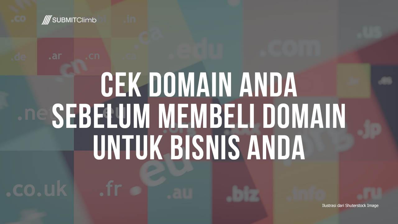 Cek Domain Anda Sebelum Membeli Domain Untuk Bisnis Anda