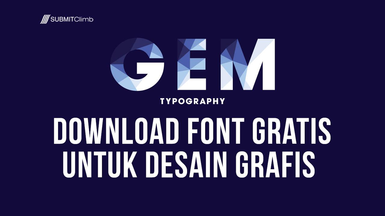 Download Font Gratis Untuk Desain Grafis – Font Modern Gratis