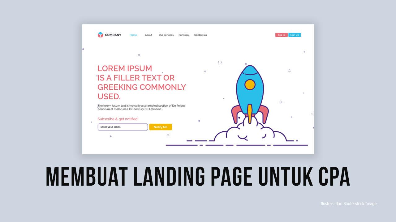 Cara Membuat Landing Page Yang Mudah Dan Baik Untuk CPA