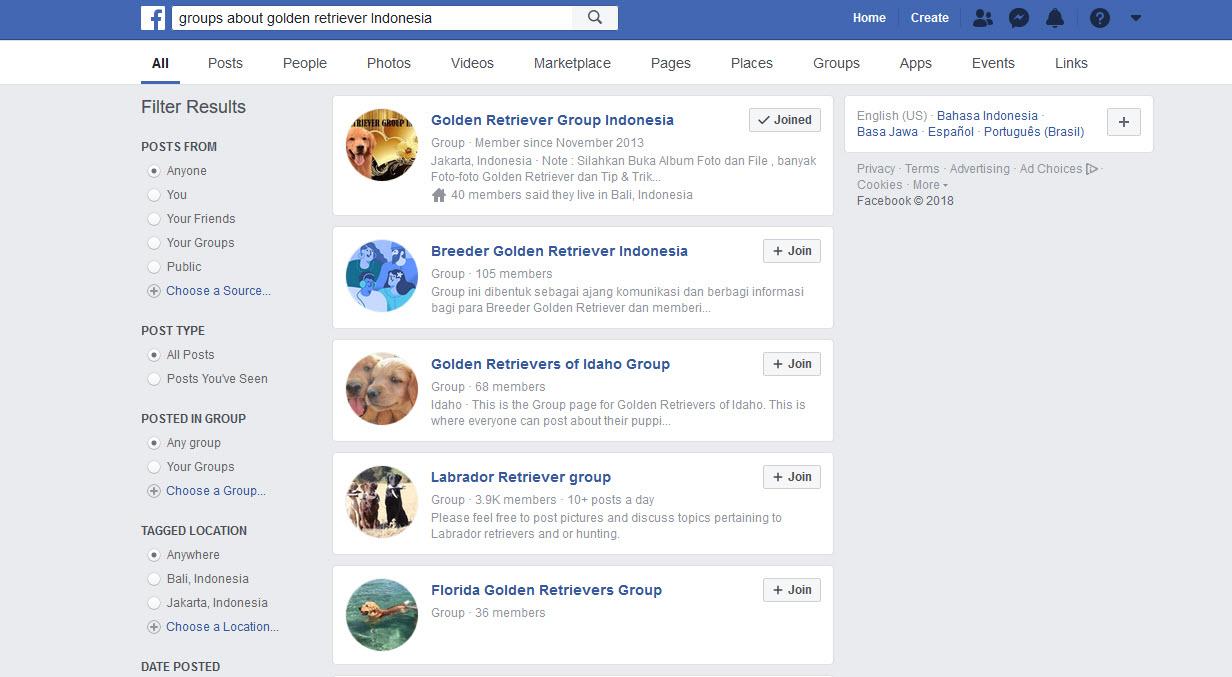 pencarian FB