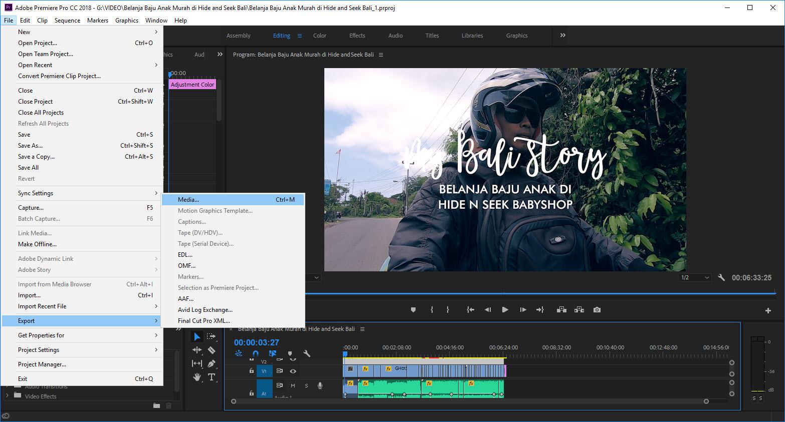 Cara Export Video Di Adobe Premiere Pro Untuk Di Upload Ke Youtube