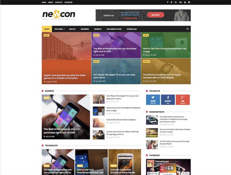 newcon template blogger
