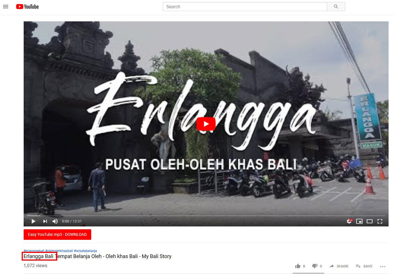 erlangga Bali Title