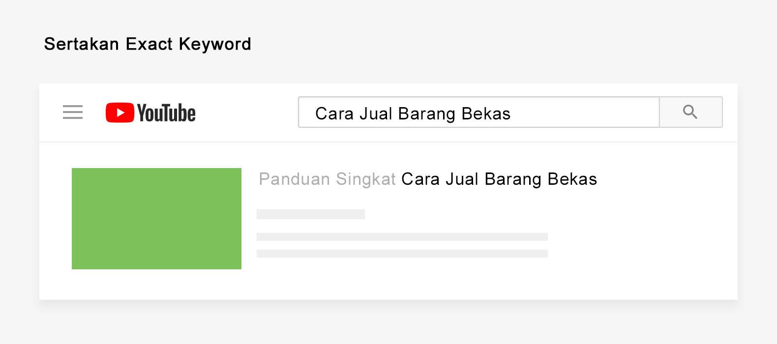 gunakan exact keyword
