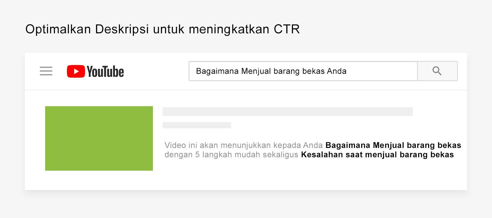 Optimalkan Deskripsi untuk meningkatkan CTR