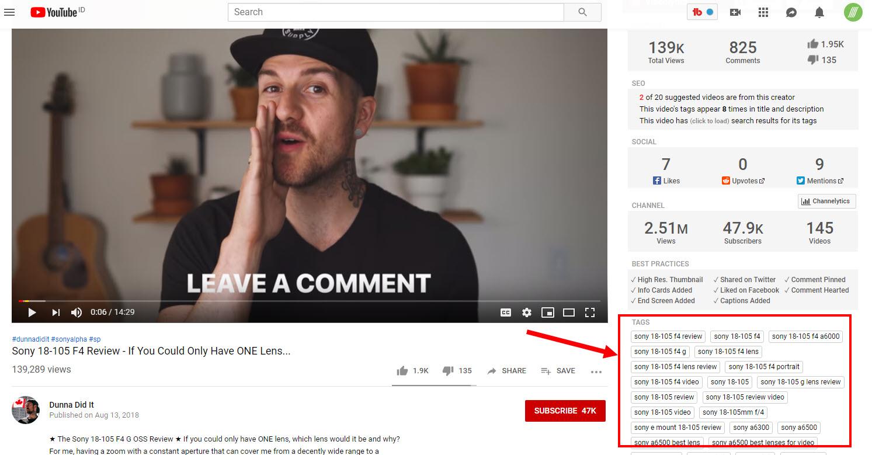 Cara Membuat Tags Video YouTube dnegan tubebuddy