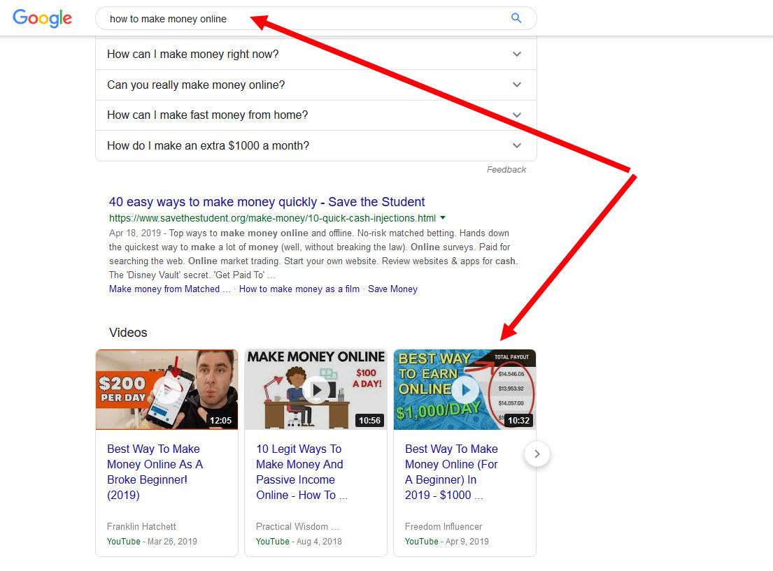 video di indeks google