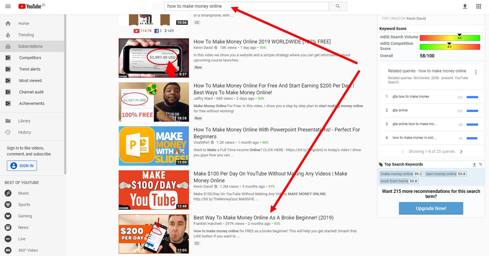 video di temukan di mesin pencari YouTube