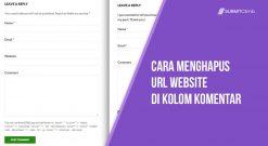 Cara Menghapus Kotak Pengisian URL Website Di Kotak Komentar
