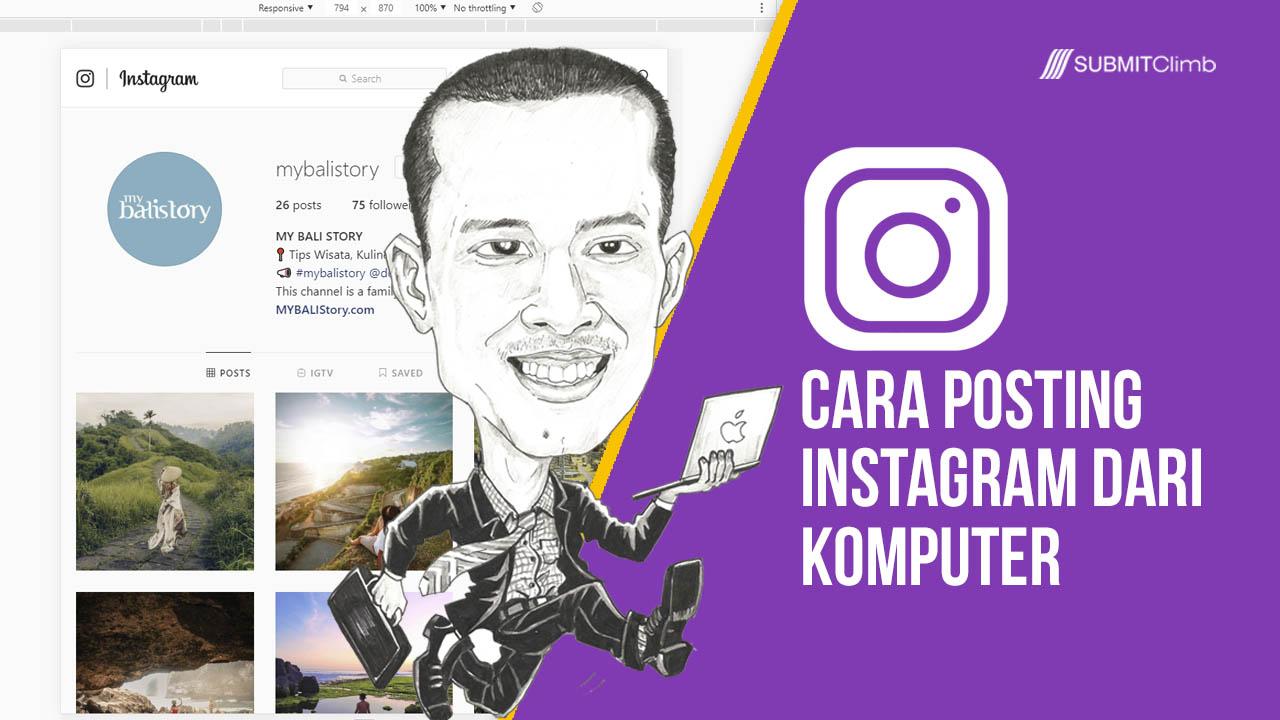 Cara Upload Foto Di Instagram Lewat Komputer