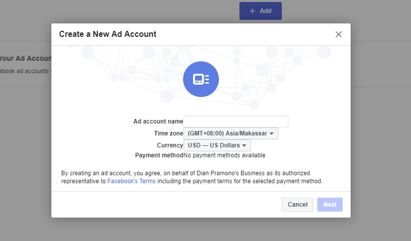 Create a New Ad Account FB Ads 14