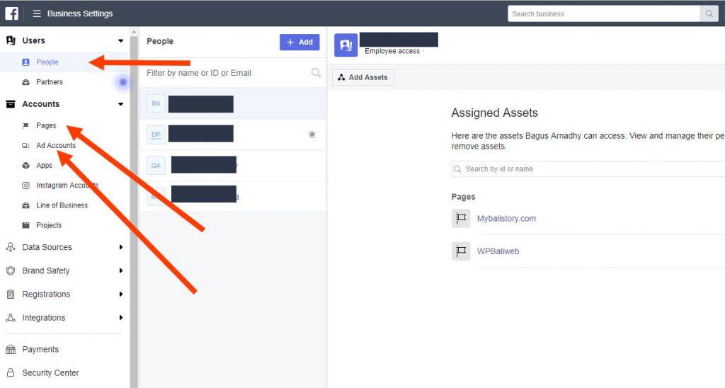 halaman dalam business manager settings FB Ads 11