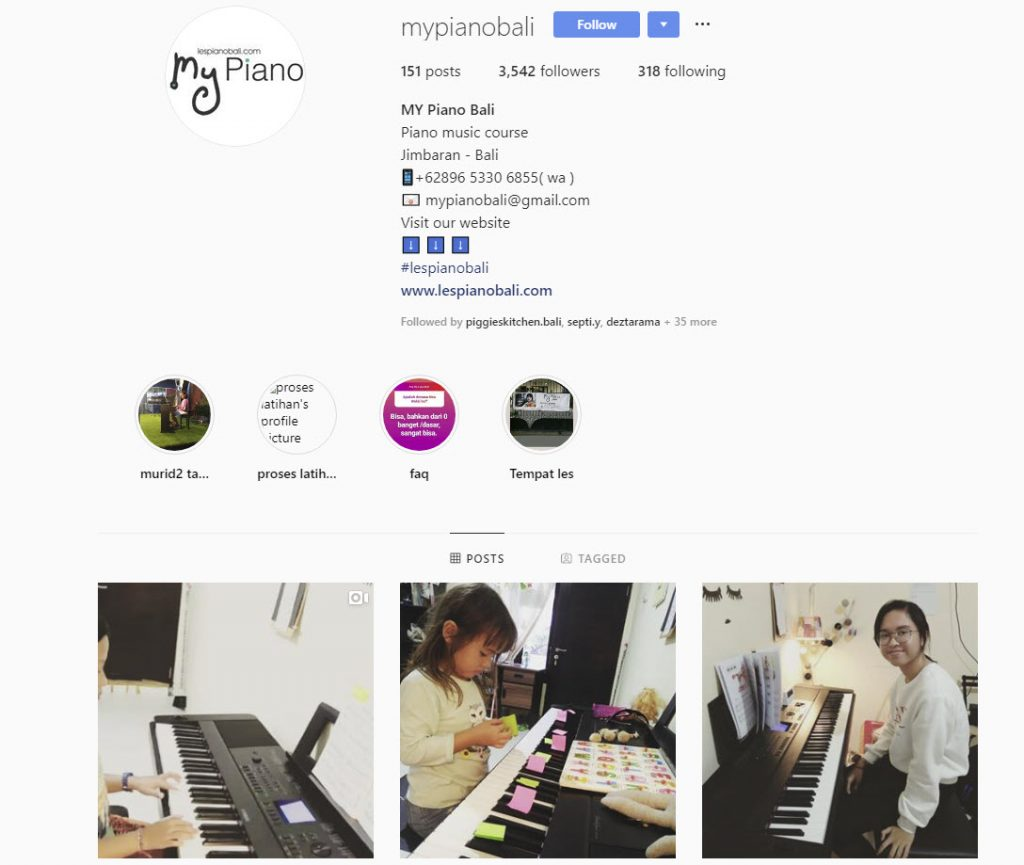 instagram mikha berubah menjadi my piano bali