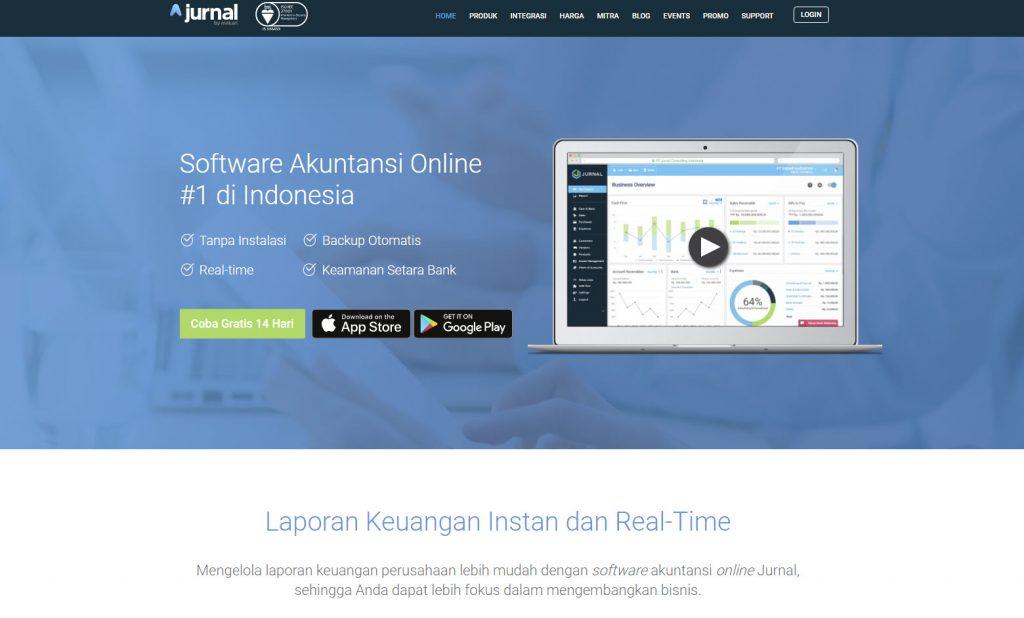 Website Jurnal membuat Aplikasi Akunting