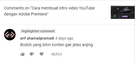 contoh komentar negatif
