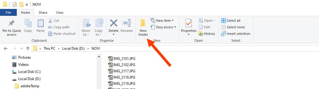 membuat folder dengan file explorer