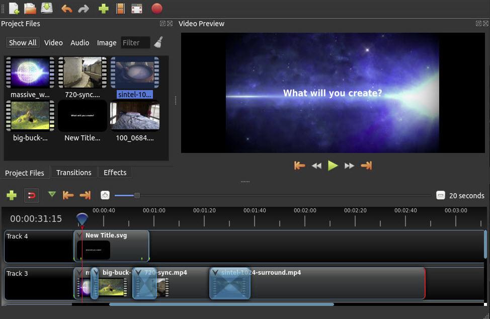 Software OpenShot Video Editing