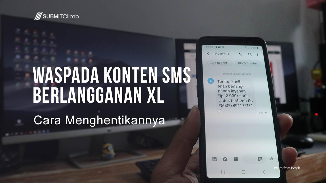 Waspada Konten SMS Berlangganan XL