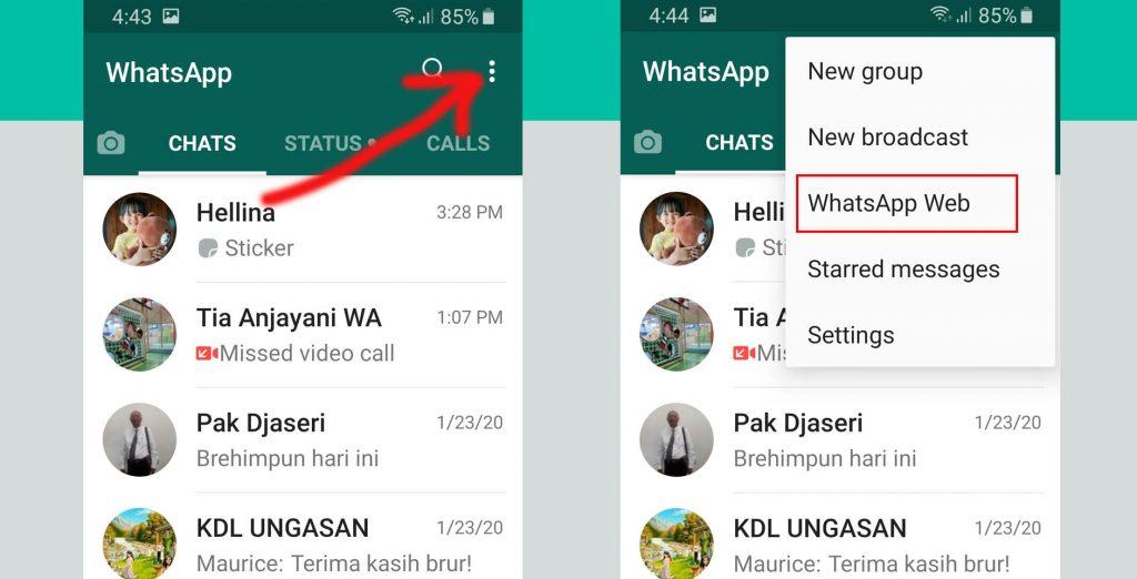 menggunakan whatsapp web