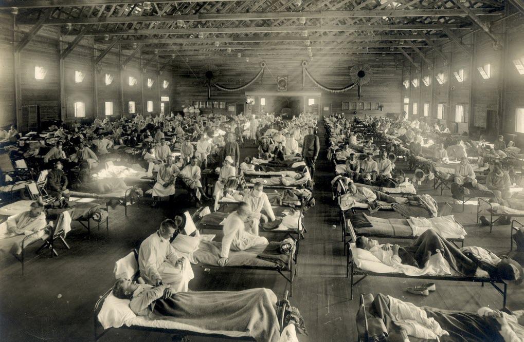 Emergency hospital during influenza epidemic