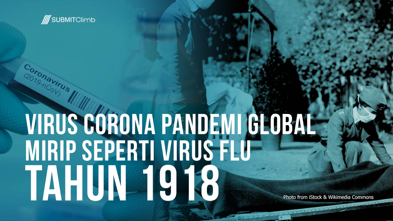 Virus Corona Pandemi Global Mirip Seperti Virus Flu Tahun 1918
