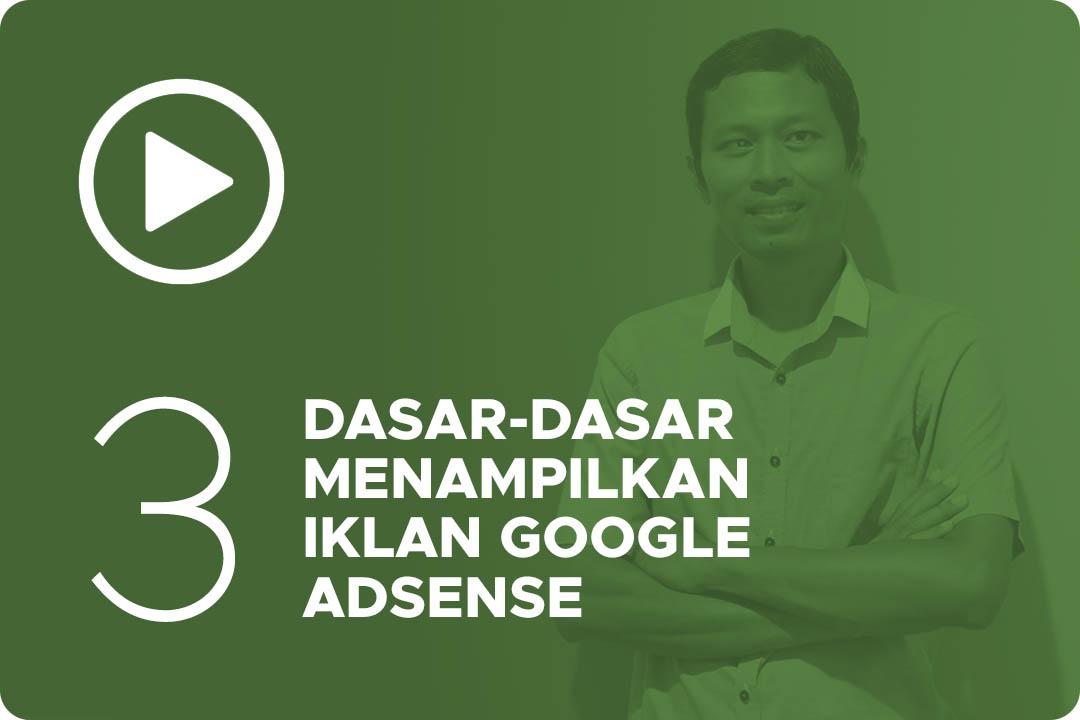 03 Dasar dasar menampilkan iklan google adsense