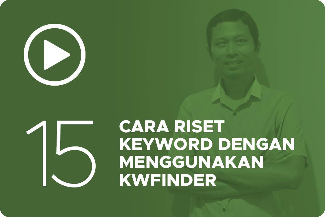 15 Cara riset keyword dengan menggunakan kwfinder