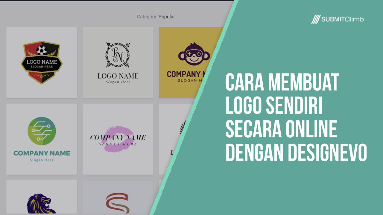 Cara Membuat Logo Sendiri Secara Online Dengan DesignEvo