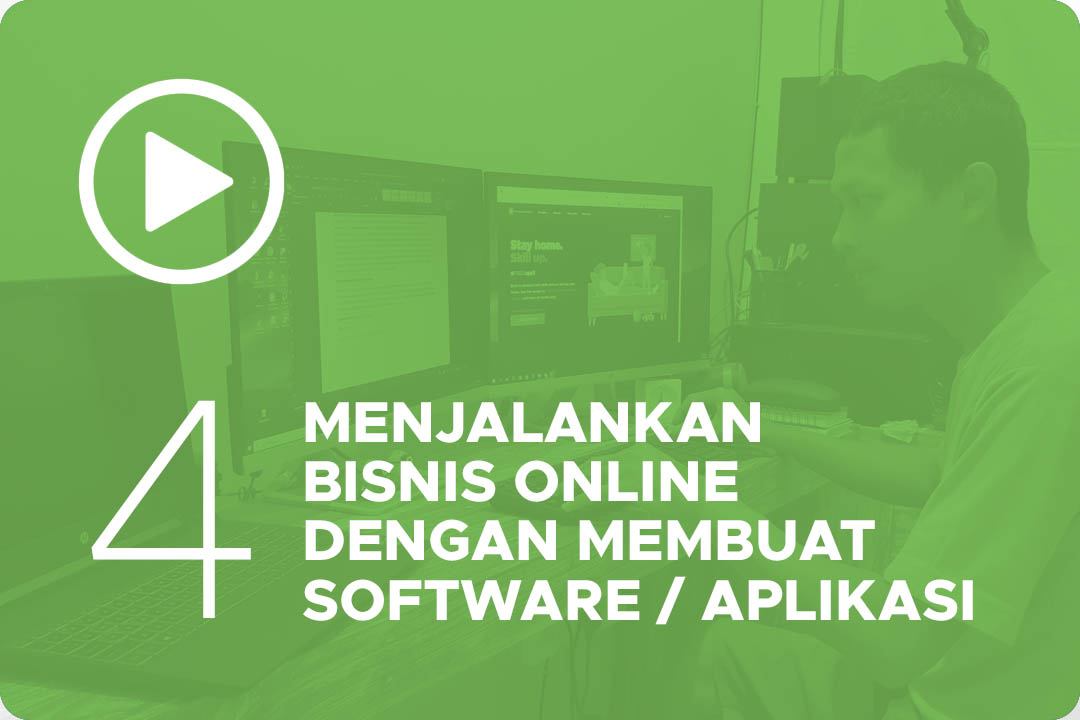 Menjalankan bisnis online dengan membuat software atau aplikasi