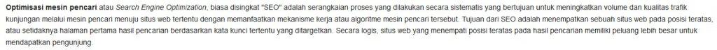 wikipedia apa itu seo